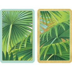 Caspari Palm Fronds Large Type Playing Cards