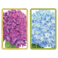 Caspari Hydrangea Garden Large Type Playing Cards
