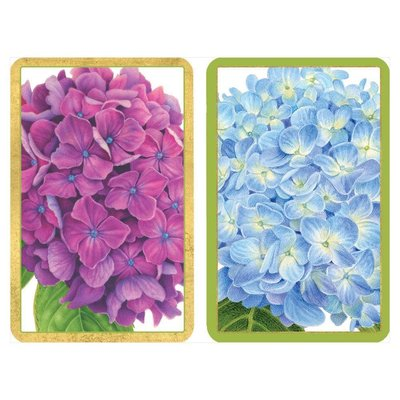 Caspari Hydrangea Garden Large Type Playing Cards