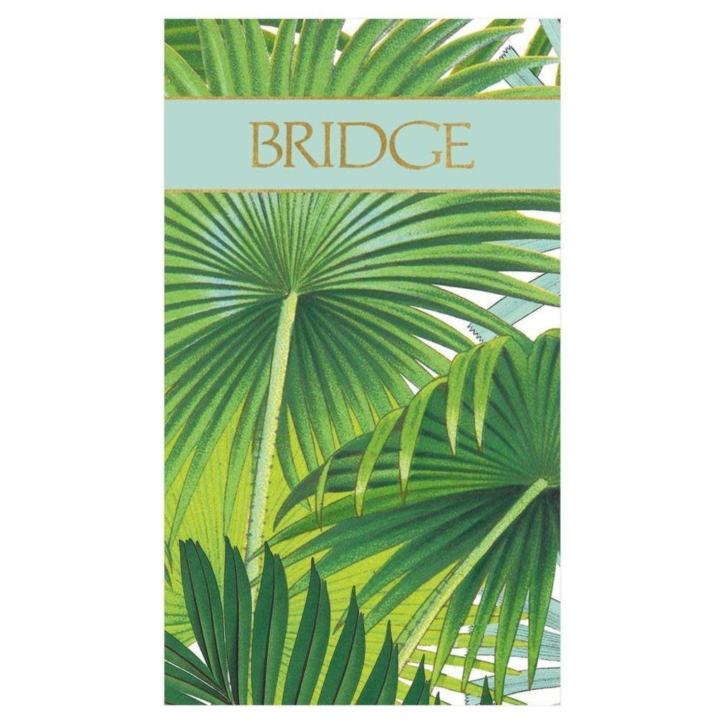 Caspari Palm Fronds Bridge Score Pad