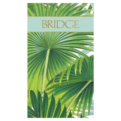 Caspari Palm Fronds Bridge Score Pad