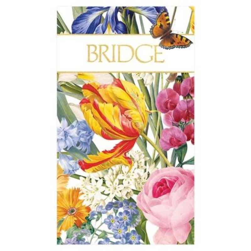 Caspari Redoute Floral Bridge Score Pad