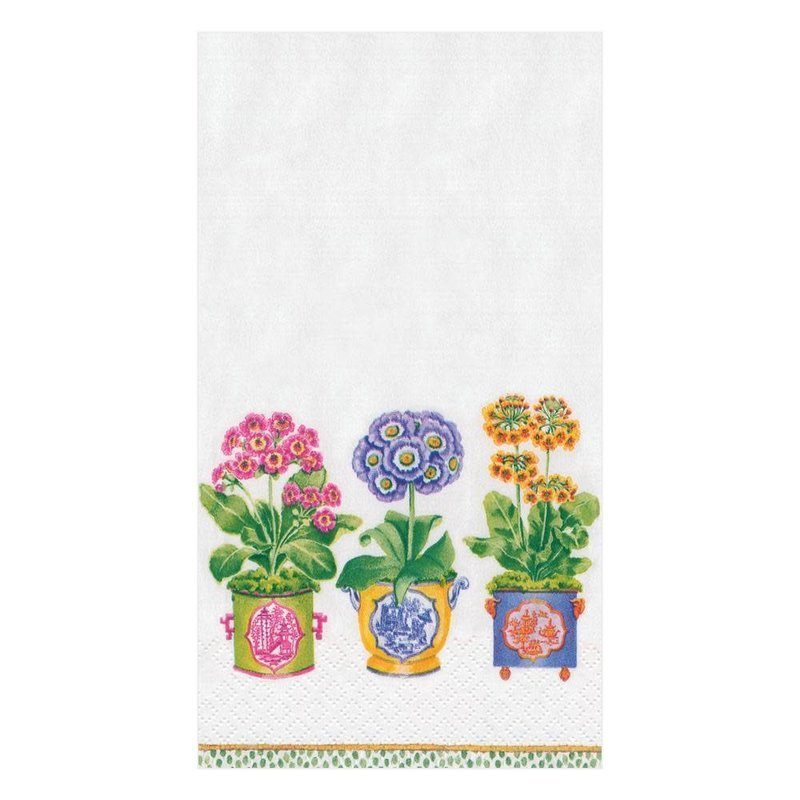 Caspari Primroses Paper Guest Towel Napkins