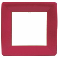Caspari Grosgrain Square Paper Dinner Plates in Red