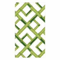 Caspari Bamboo Paper Guest Towel Napkins in Green