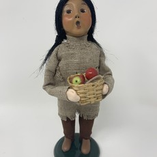 Byer's Choice Byers Carolers Native American Girl with  Apples