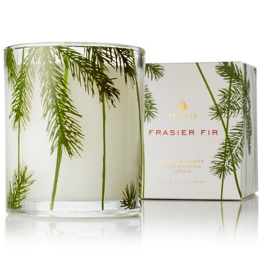 Thymes Frazier Fir Poured Candle, Pine Needle Design