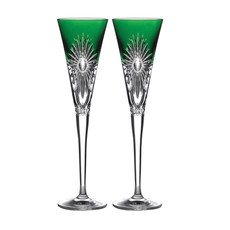 Waterford Waterford 2021 Times Square Emerald Flute Pair