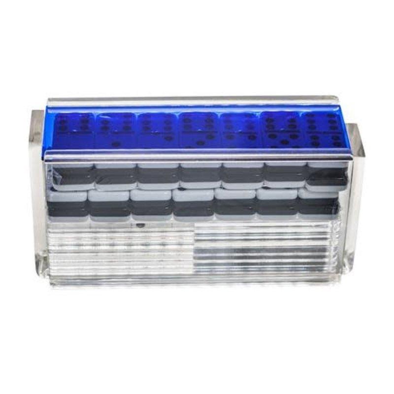 Luxe Dominoes Luxe Domino Set/Racks El Catire Blue