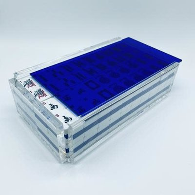 Luxe Dominoes Luxe Mahjong Set/Racks El Mahjong Blue