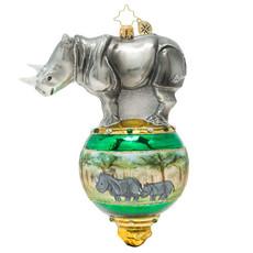 Radko Radko Ornament - Rambunctious Rhino