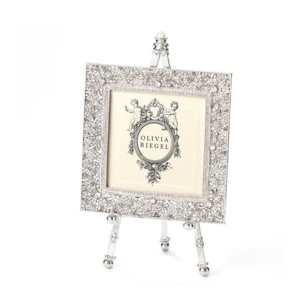 Olivia Riegel Silver Windsor 4x4 Frame on Easel