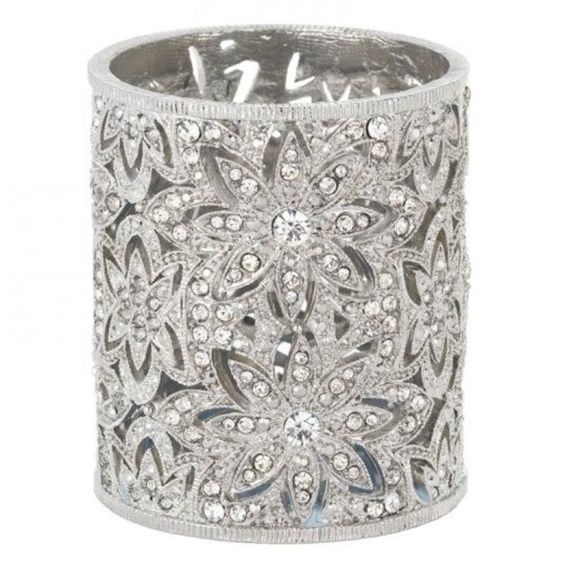 Olivia Riegel Silver Crystal Sinclair Tea Light Holder