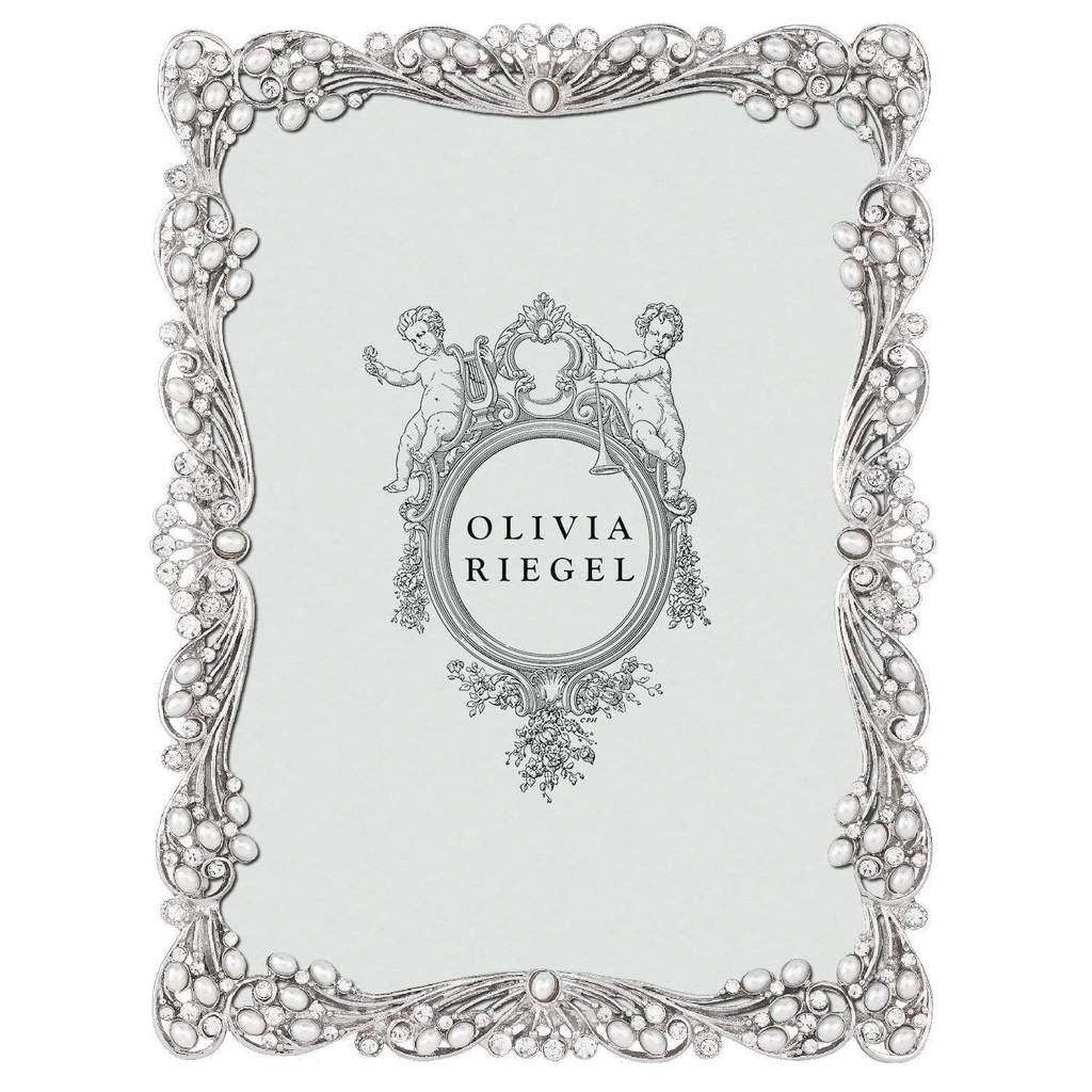 Olivia Riegel Audrey Silver & Pearl 4x6 Frame
