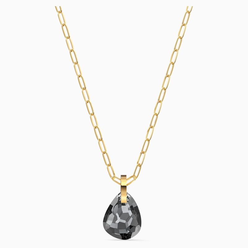 Swarovski T BAR PENDANT, GRAY, GOLD-TONE PLATED