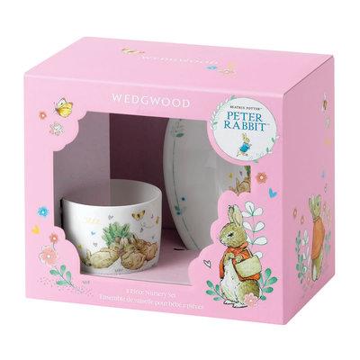 Wedgwood Peter Rabbit Girl's 2-Piece Set, Bowl and Mug