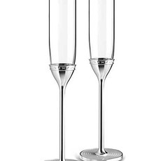 Vera Wang With Love Nouveau Toasting Flutes Pair, Silver