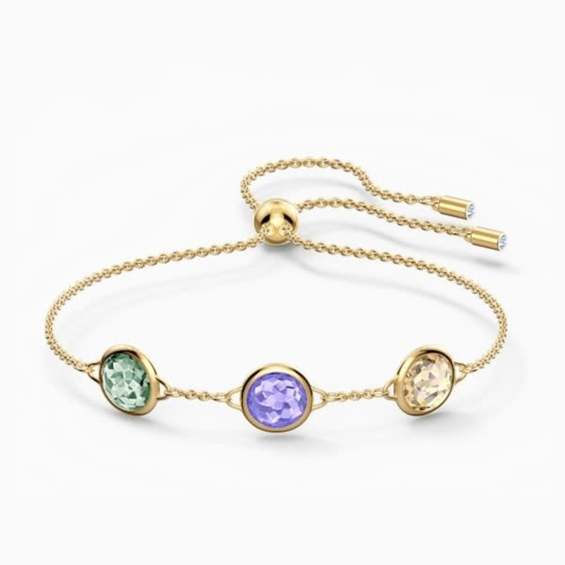 Swarovski TAHLIA BRACELET, MULTICOLORED, GOLD-TONE PLATED