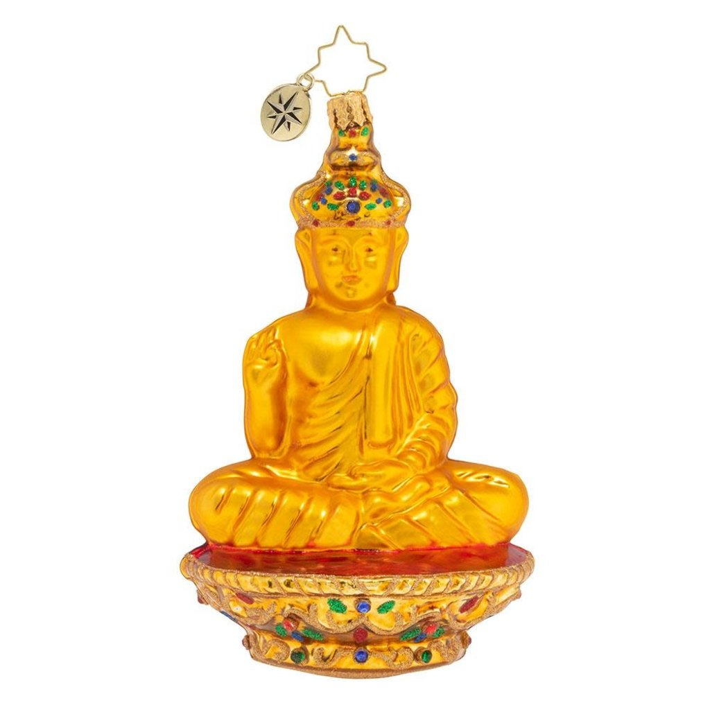 Radko Golden Serenity Buddha Ornament