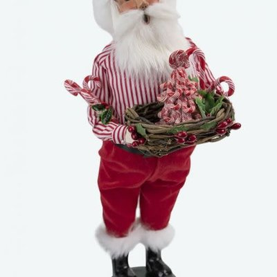 Byers Choice Byers Carolers Candy Cane Santa