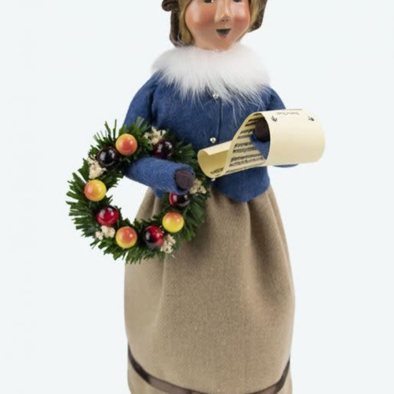 Byer's Choice Byers Carolers Palmer Woman with Wreath