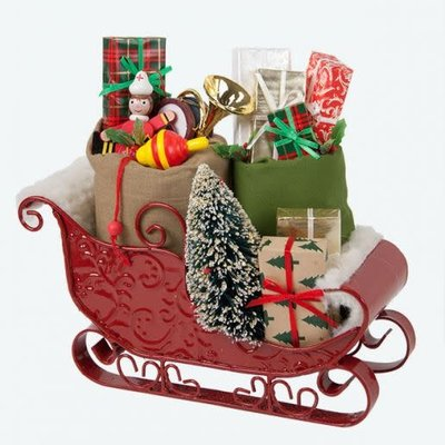 Byers Choice Byers Carolers Sleigh Filled With Toys