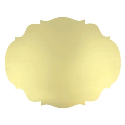Hester & Cook Die-Cut Gold French Frame Placemat, 12 Sheets