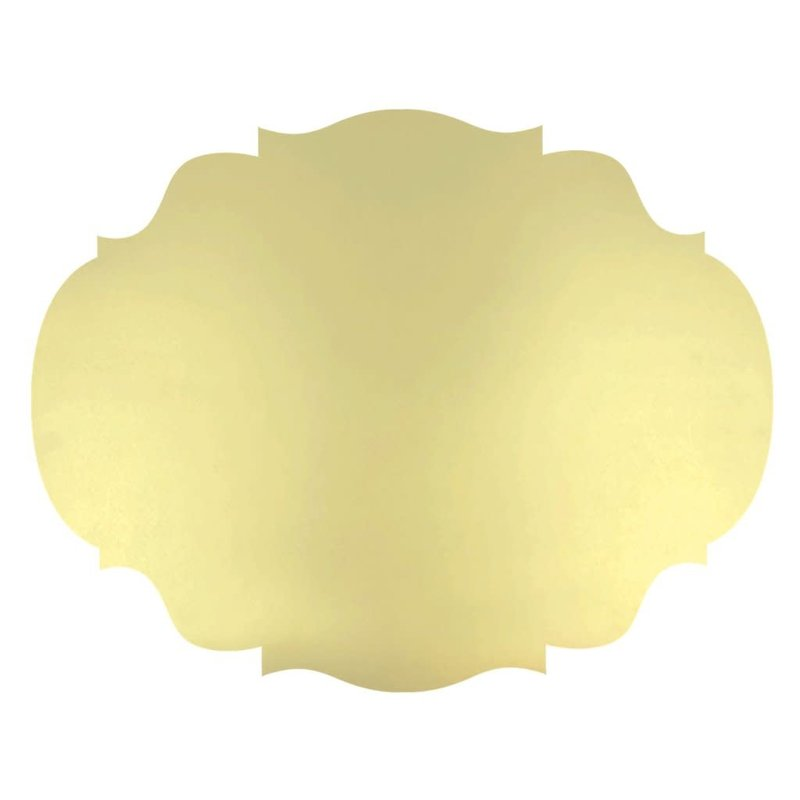 Hester & Cook Die-Cut Gold French Frame Placemat - 12 Count