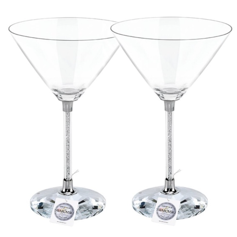 Swarovski Swarovski COCKTAIL Martini Crystalline (SET of 2) Glasses