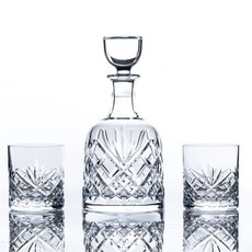 Waterford Woodmont Decanter and 2 D.O.F. (s/3)