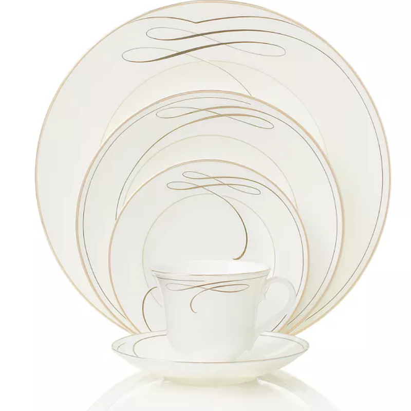 Waterford Ballet Ribbon 5 Piece Plate Set