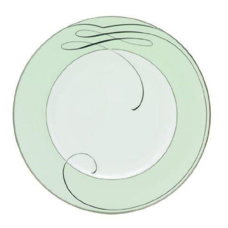 "Waterford Ballet Ribbon 9"" Mint Satin Plate"