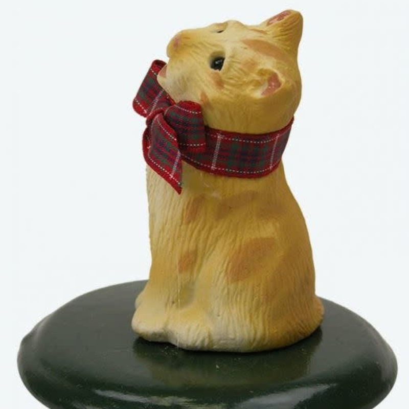 Byer's Choice Byers Carolers Orange Tabby Cat