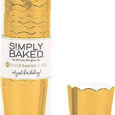 Simply Baked Gold Paper Baking Cups