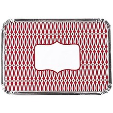 Simply Baked Foil Pans with Red Lids 12x8