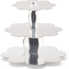 Simply Baked 3-Tier Cupcake Stand Silver