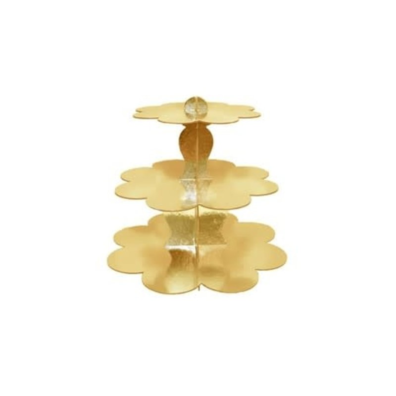 Simply Baked 3-Tier Cupcake Stand Gold