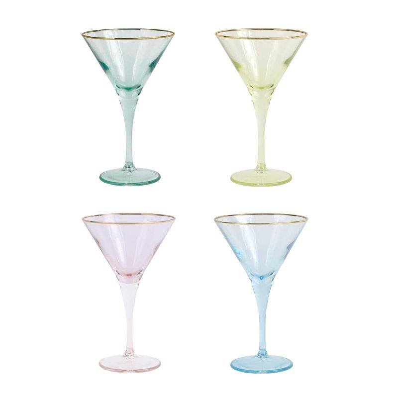 Viva RAINBOW ASSORTED MARTINI GLASSES - SET OF 4