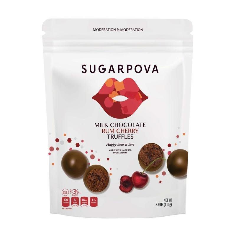 Sugarpova Milk Chocolate  Rum Cherry Truffles