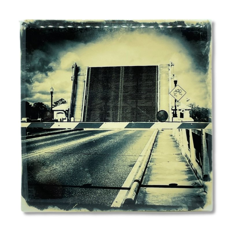 Cityscape Tiles Ortega Draw Bridge Open Jacksonville Tile