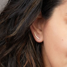 Scout Comer Curve Earring/Gold Vermeil