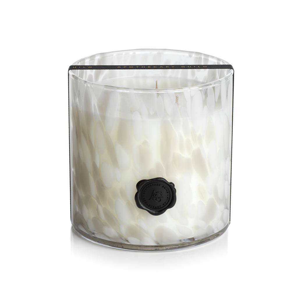 Zodax AG Opal Glass Three Wick Candle Jar- Gardenia