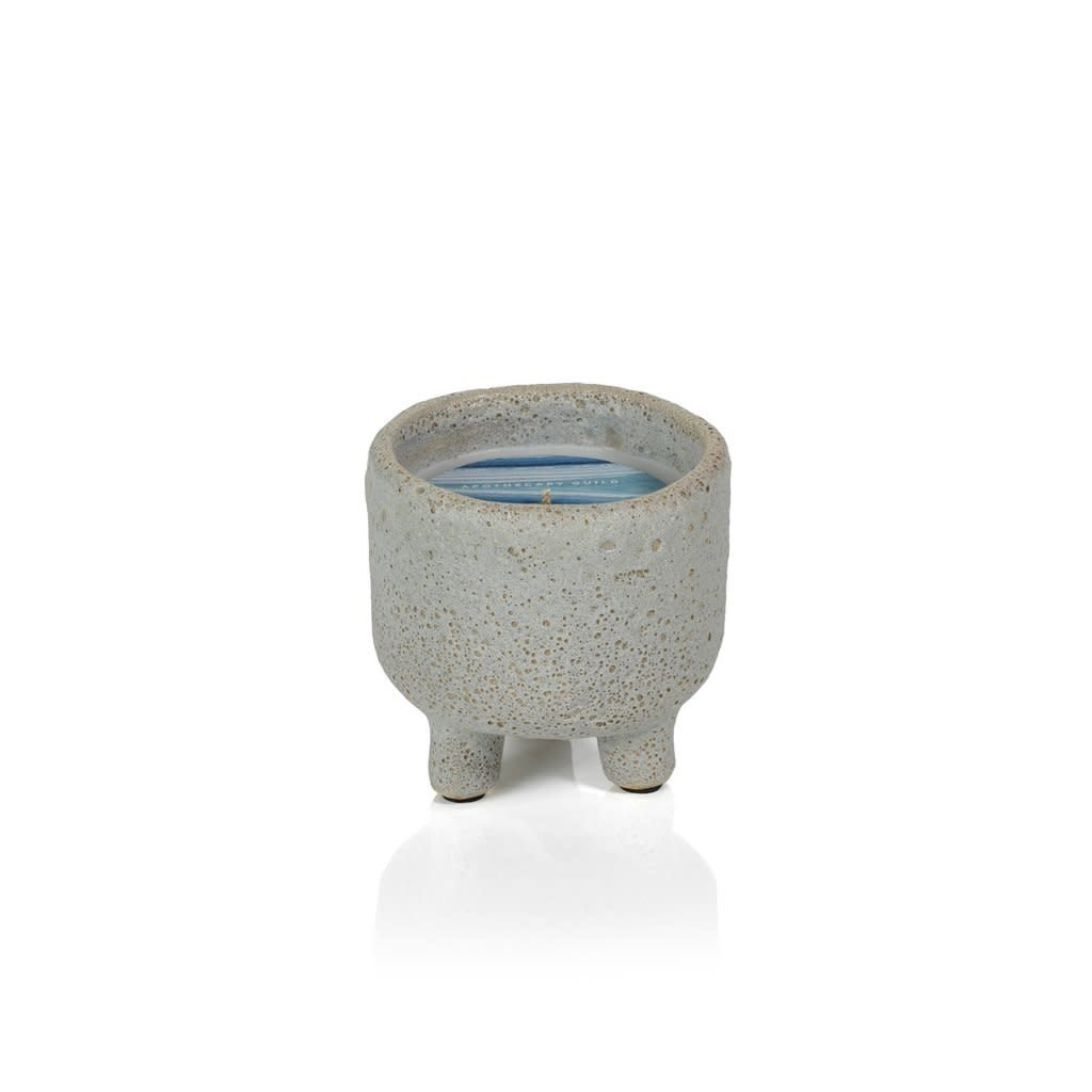"""Zodax Pacifica Island Candle in Footed Pot, 3.25"""""""
