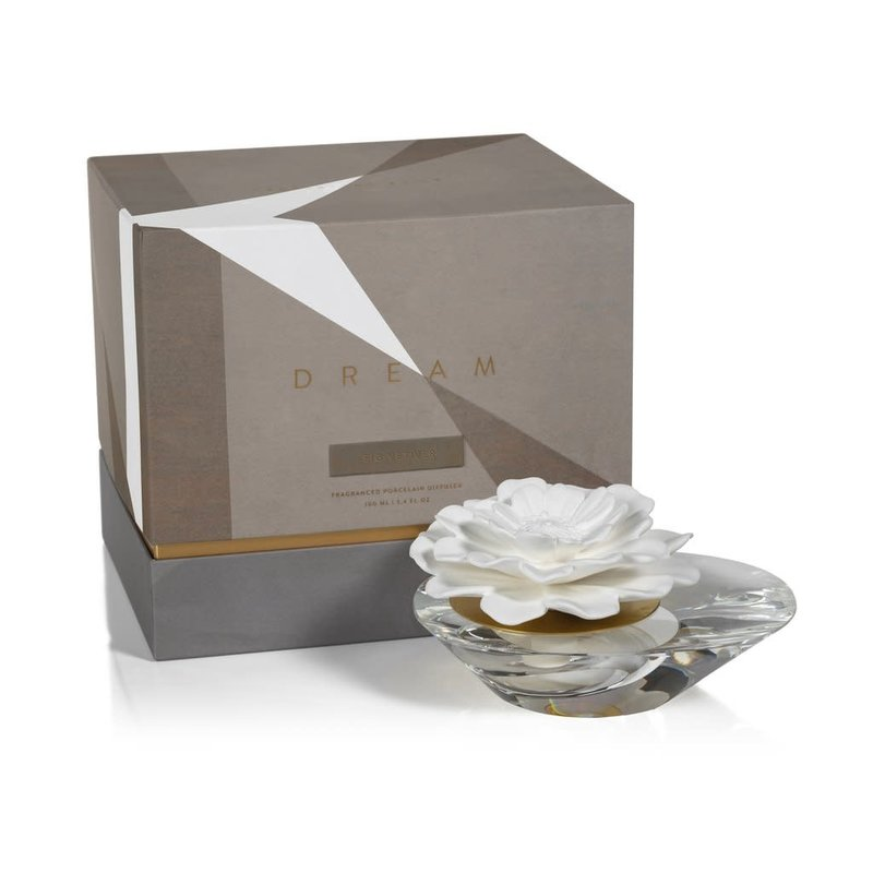 Zodax Dream Porcelain Diffuser- Crystal Edition / Moroccan Peony
