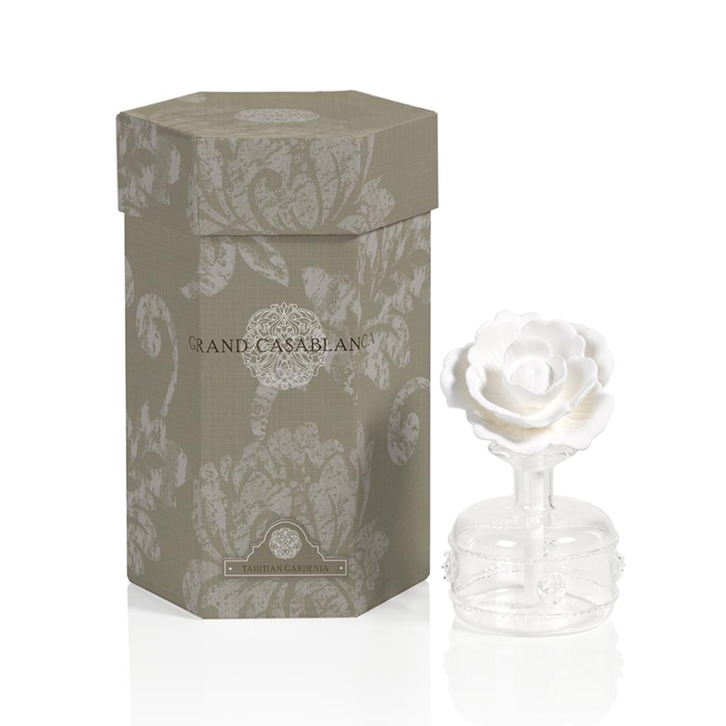 Zodax Mini Grand Tahitian Gardenia Mini Grand Casablanca Porcelain Diffuser