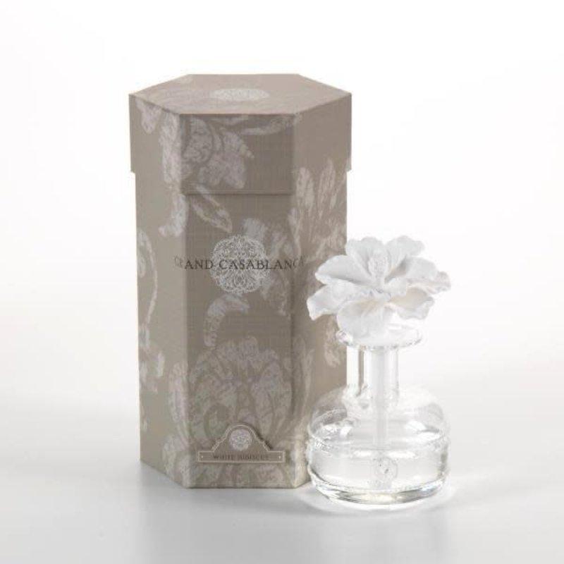 Zodax White Hibiscus Mini Grande Casablanca Porcelain Diffuser