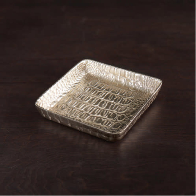 Beatriz Ball GIFTABLES Sierra Croc Napkin Box (Gold)  - SMALL