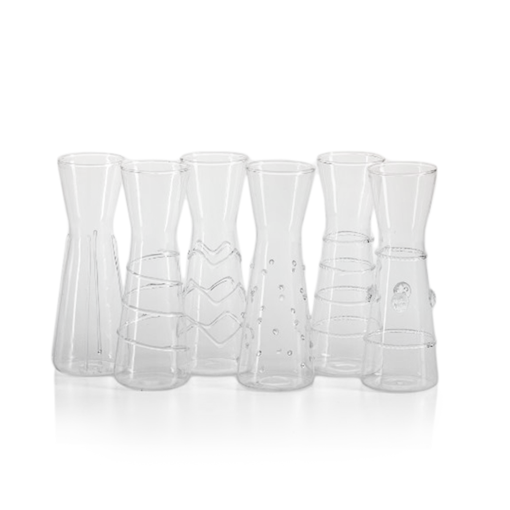 Zodax Six Assorted Design Individual Carafes