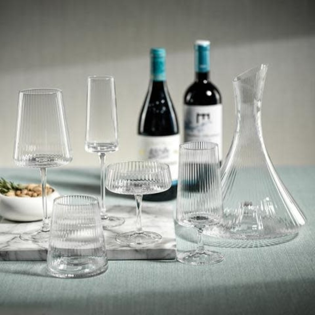 Zodax Bandol Fluted Textured Cocktail Glass