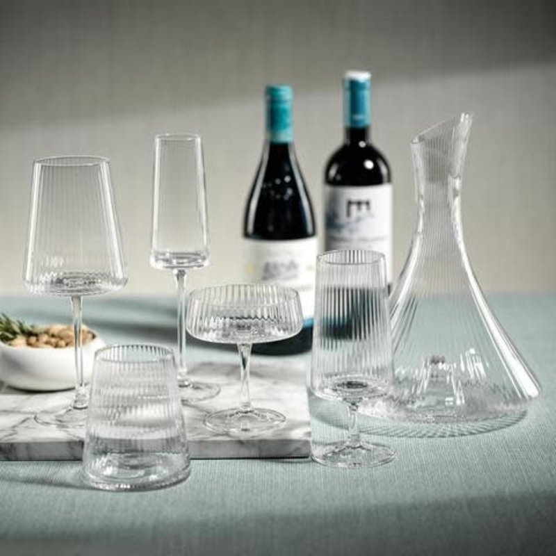 Zodax Bandol Fluted Textured Cocktail Glass
